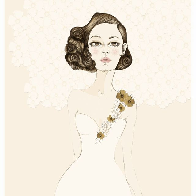 image: Wedding dresses on Behance by ilustracionescecilia