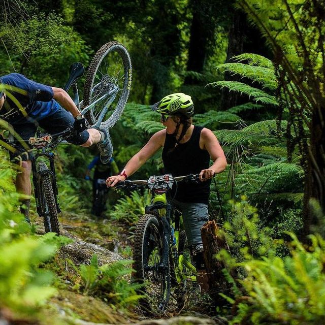 image: There's a bit of a story behind this photo. Stage two, day two of the @nzenduro I got stung by a bee inside my throat while coming out of the start gate. Consequently I lost my voice and struggled to breathe on the way down because of the swelling. I... by murraycharles