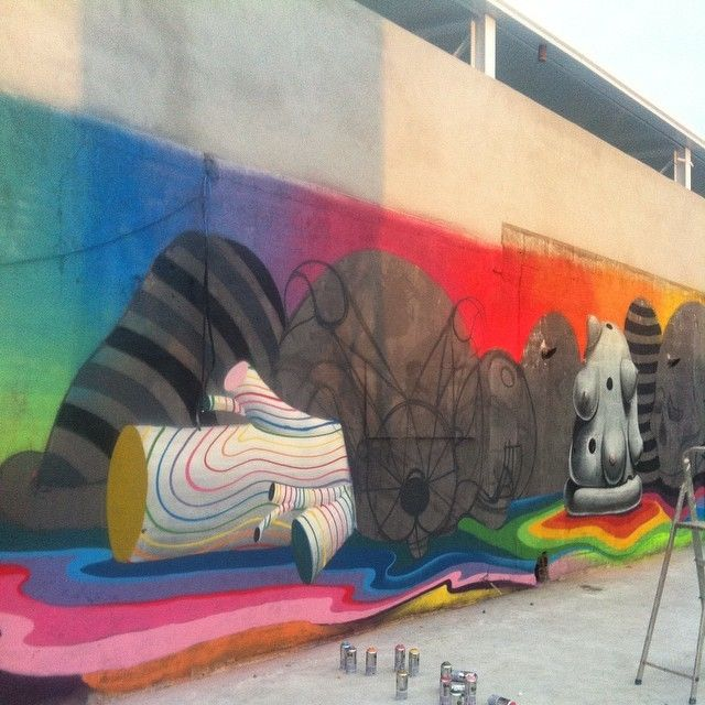 image: mural in progress...alone ...somewhere in Cantabria ... by oscar_sanmiguel