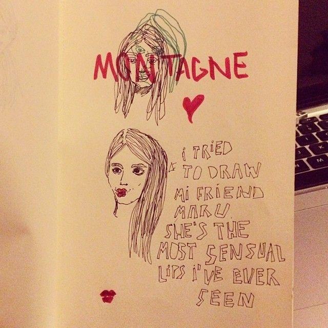 image: mi amiga maru y sus sexy lips by mon_tagne