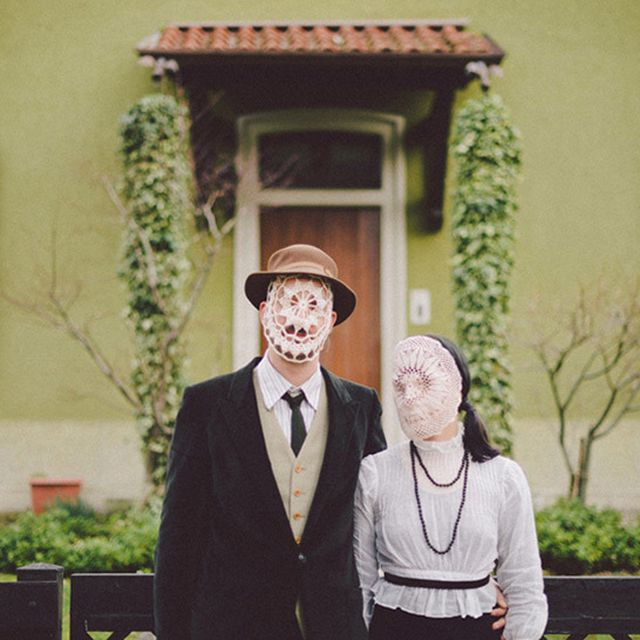 image: doily masks portraits by andreagenova