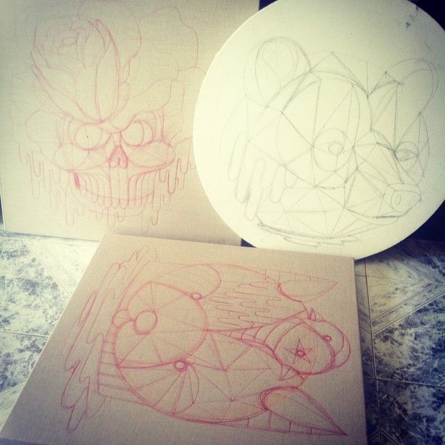 image: new sketches...new tapestries coming soon..working i... by oscar_sanmiguel