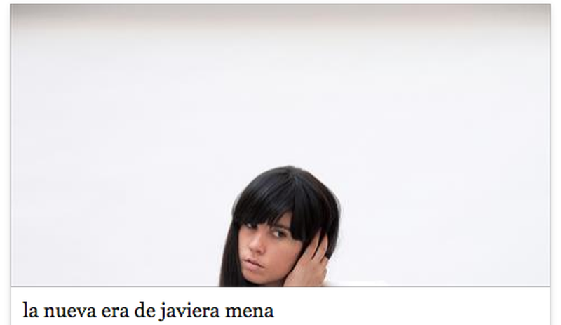 image: la nueva era de javiera mena   i-D Magazine by lauraput