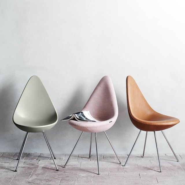 image: Three stunning Drop™ chairs - which one is your favorite? #FritzHansen #ArneJacobsen by fritz_hansen
