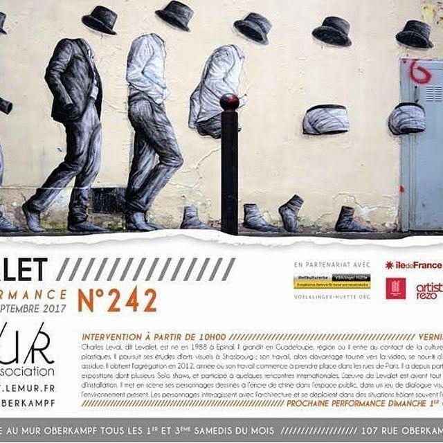 image: Rendez vous samedi pour une performance au MUR Oberkampf! by levaletdessinderue