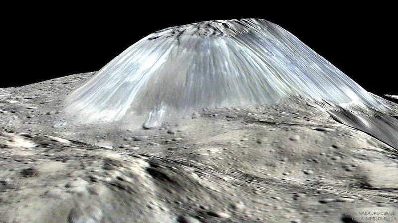 image: What created this unusual mountain by astronomypicturesdaily