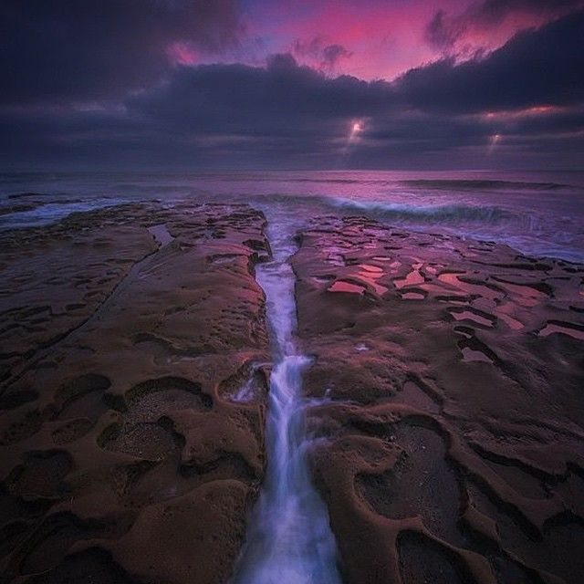 image: The La Jolla coves during sunset. by michael_shainblum