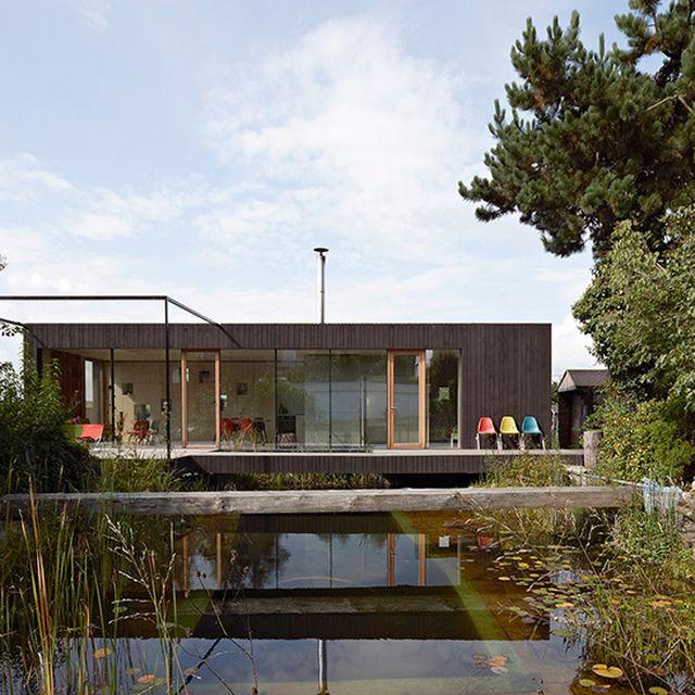 image: Hammerschmid, Pachl, Seebacher construct wooden pond... by availableviridian