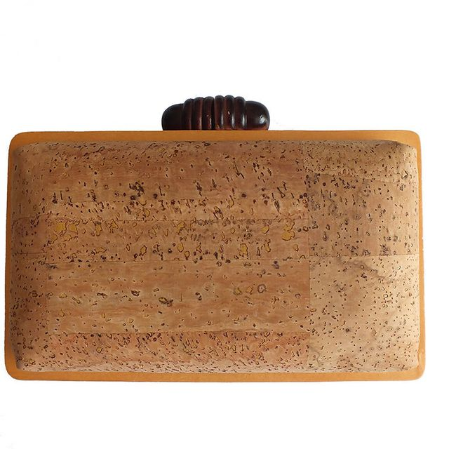 image: Cork box clutch natural by xianna