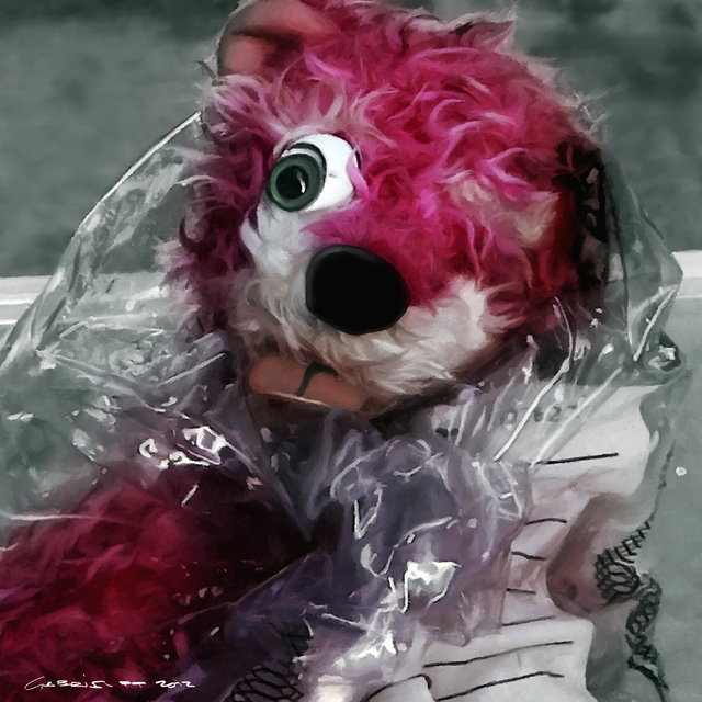 image: Pink Teddy Bear in evidence bag @ TV serie Breaking Bad by gabrielttoro