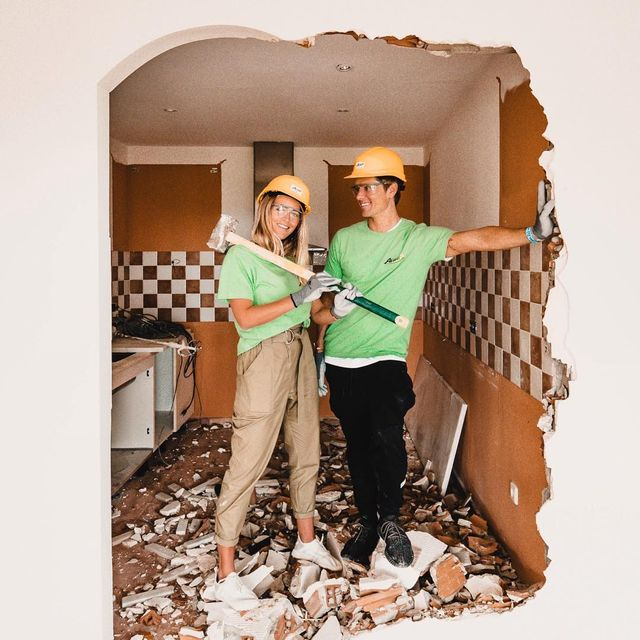 image: So the reason I'm not posting that much right now is because I'm busy doing this ?? all week... ??‍♀️? Haha, we love it! ?? See more from our house renovation on my blog! ? by jannid