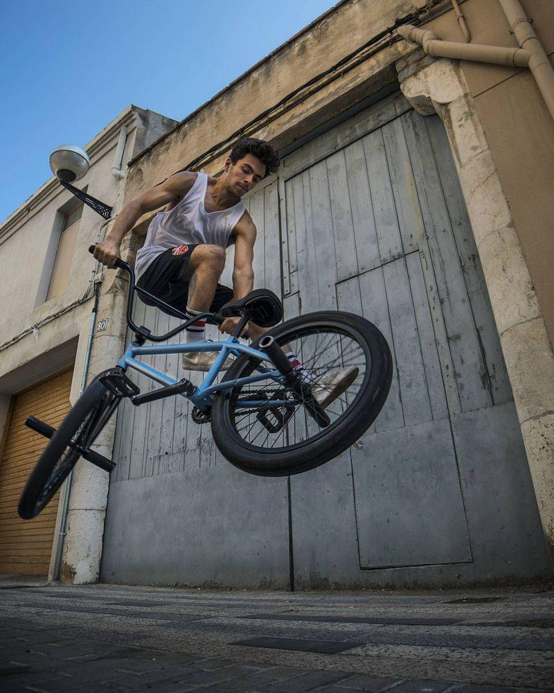 image: Whip it! @varohernandez #bmx #bmxbcn #flatland #bike #blue by moya_flat
