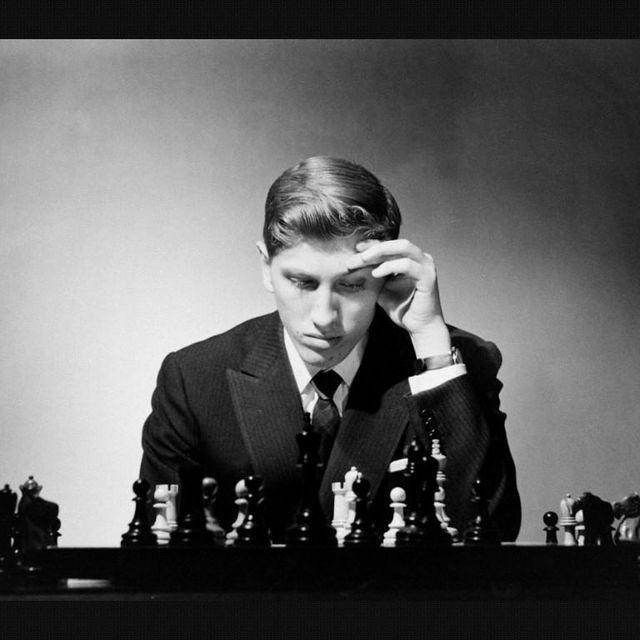image: bobby fischer. chess by moisesmm10