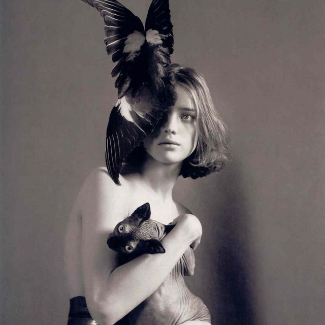image: Natalia Vodianova and the Cat by eastofeden