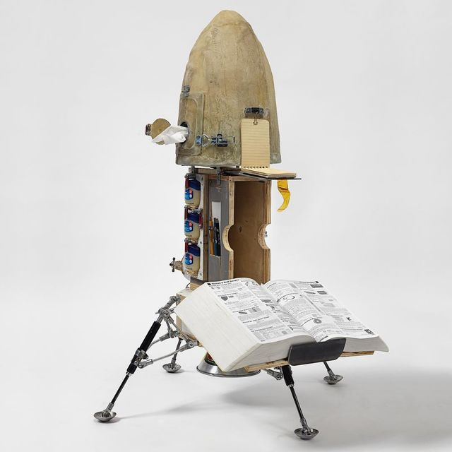 image: Objects of Devotion will be open tomorrow @speronewestwater  from 10-6 McMasterbation,...Plywood, epoxy resin, steel hardware, mixed...38 H x 30 W x 30 D...S/N: 2016.461 by tomsachs