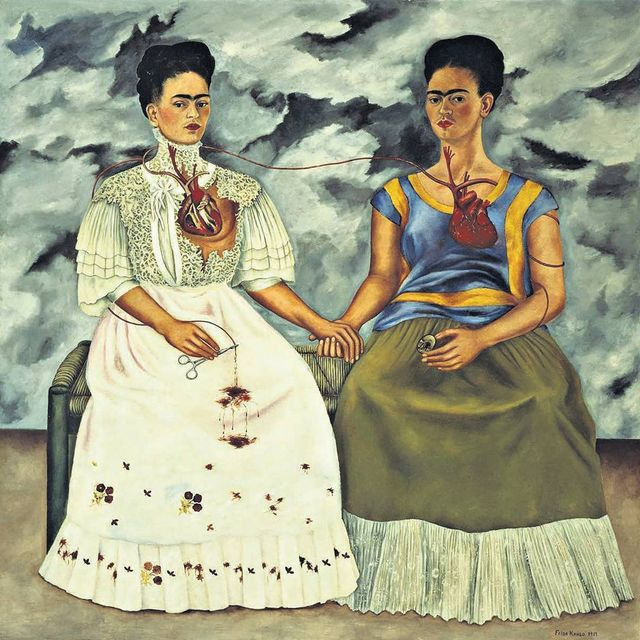 image: Frida Kahlo's 'The Two Fridas' is the first of Charles Saatchi's new series of articles in the Daily Telegraph on his favourite art masterpieces.  http://www.telegraph.co.uk/art/what-to-see/charles-saatchis-great-masterpieces-frida-kahlosthe-two-fridas/ by saatchigallery