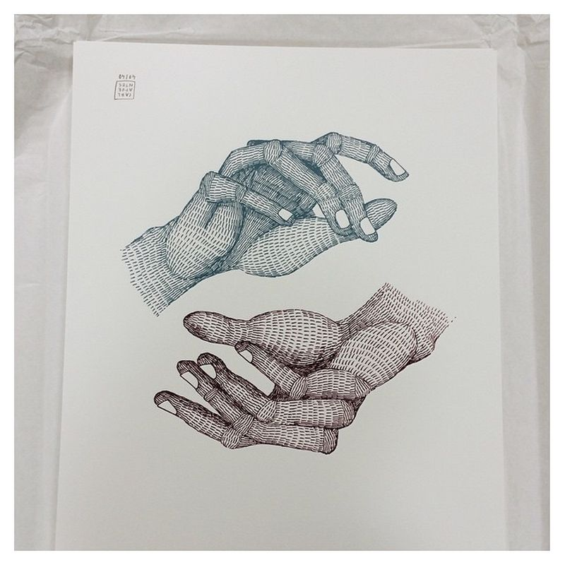 image: HIS HANDS. New silkscreen for @guntergallery . Serie... by little_isdrawing