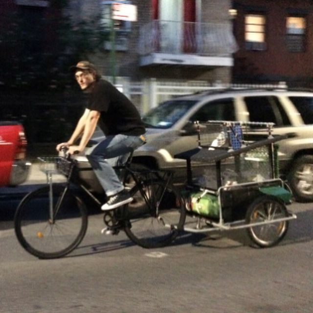 image: @pigeon_pat  rode his bike from Bushwick to Montauk last night.  Come celebrate his work. Build in his pigeon loft, real man's art,born of authentic hard work:sculpture, paintings and culinary excellence(pigeon eggs and lobster meat)TOMORROW at Boo... by tomsachs