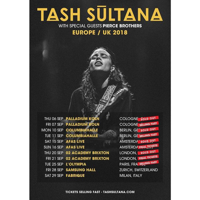 image: Stoked to be playing in Zurich and Milan this... by tashsultanaofficial