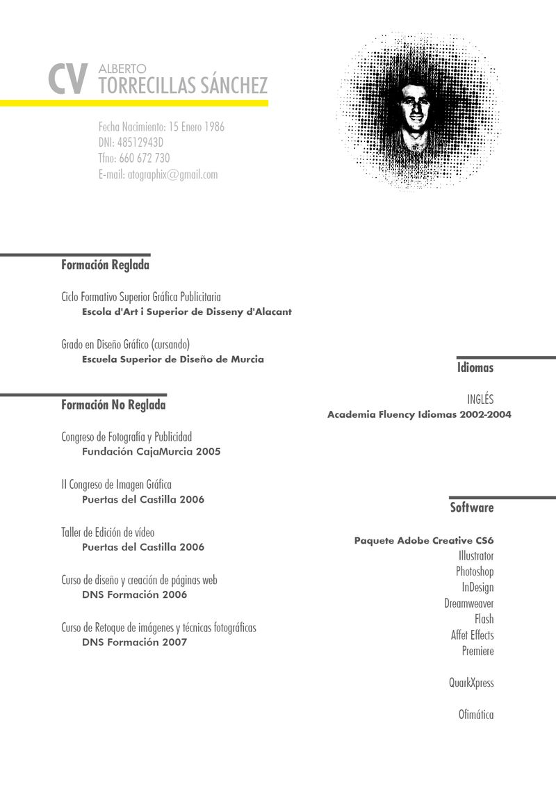 image: CV by atographix