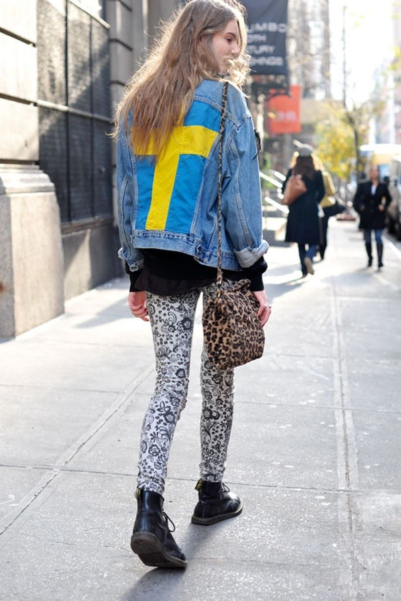 image: Grunge Streetstyle: denim and print by claire-fischer