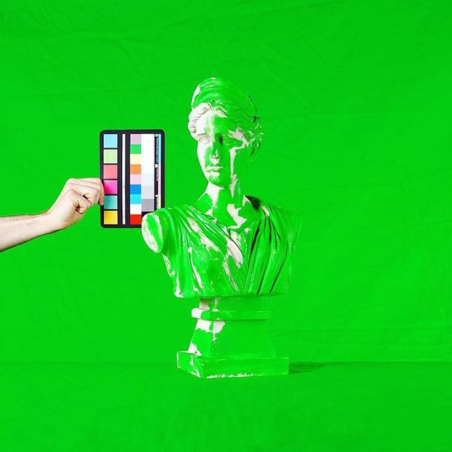 """image: """"Do something with a green screen"""" vague editorial art commission. Status: rejected. ??♂️??♂️??♂️ by chadwys"""