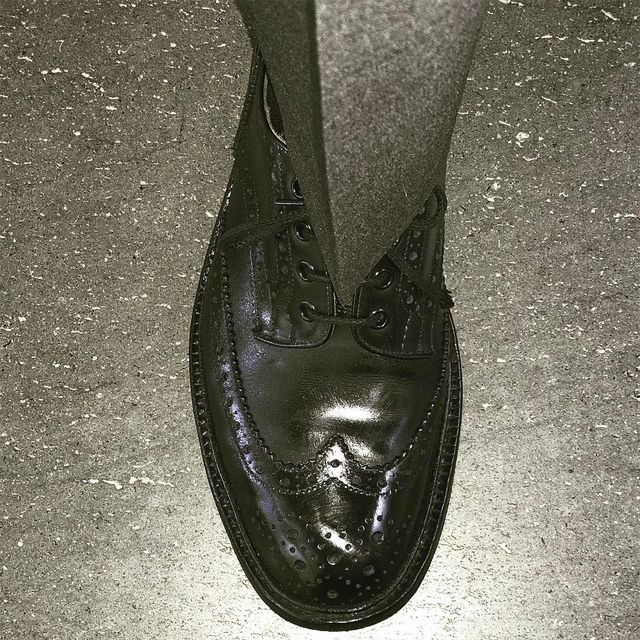image: To @showstudio . @trickers_shoes + @kilgour by nickknight