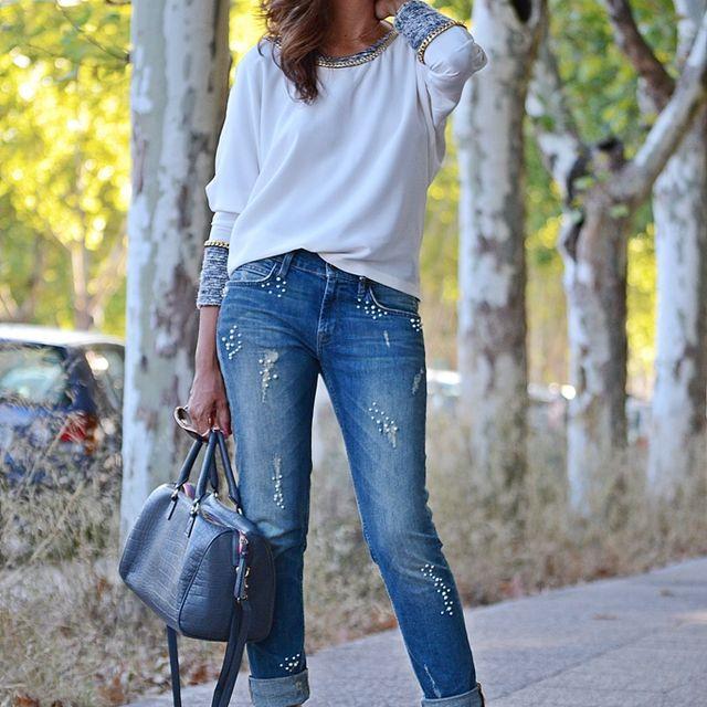 image: Blusa blanca by elblogdesilvia