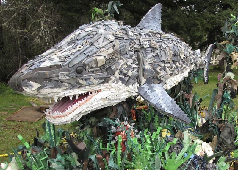 image: Sculptures Made Entirely Of Beach Waste by neverdiscrete
