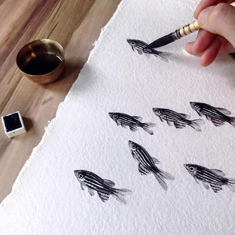 image: SWIMMING ON INK by art_seeker
