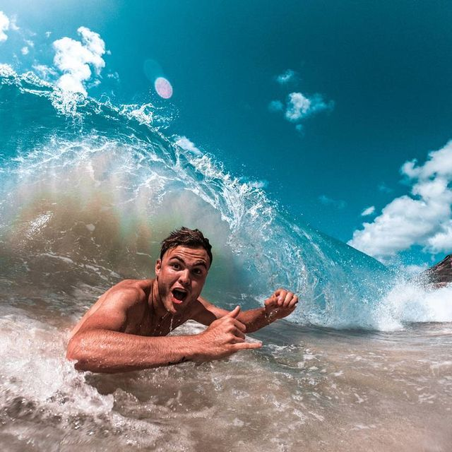 image: Throwing Shakas and getting absolutely rinsed with @samevanslife at Sandy's shorey! #SoPitted #GoPro by chrisrogersza