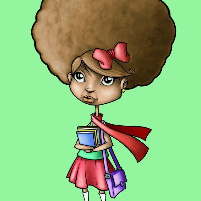 image: THE LITTLE AFRO GIRL by lamanzanarodante