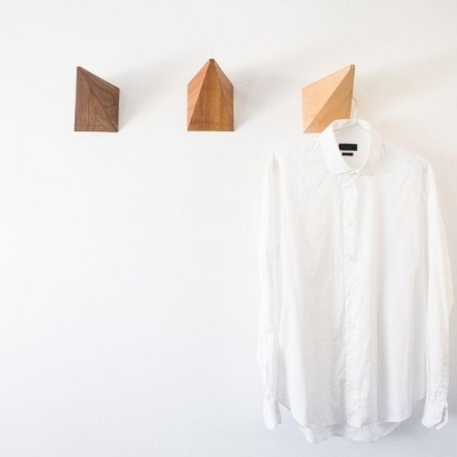 image: Pyramid hanger wood three design hang minimal furniture by abidingchips