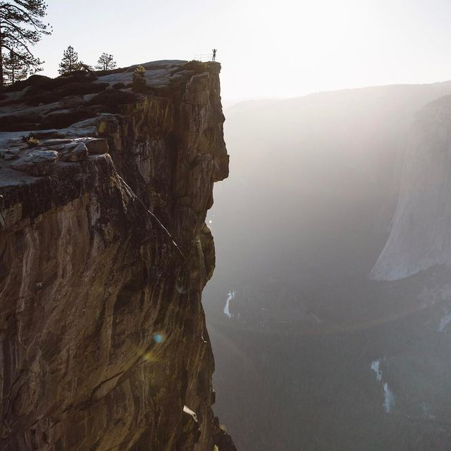 image: Am I the first person to realize the top of Taft Point looks like the profile of an old man's face? How come nobody has ever mentioned this? Do you see it??? by itsbigben