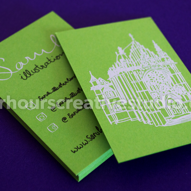 image: Cost effective Vanguard Uncoated Business Cards by hourscreative