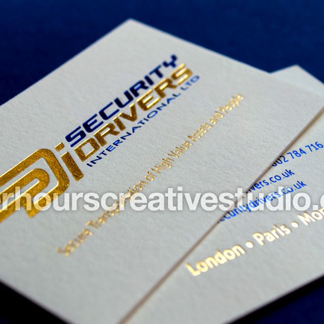image: Rose Gold Foil Business Card by hourscreative
