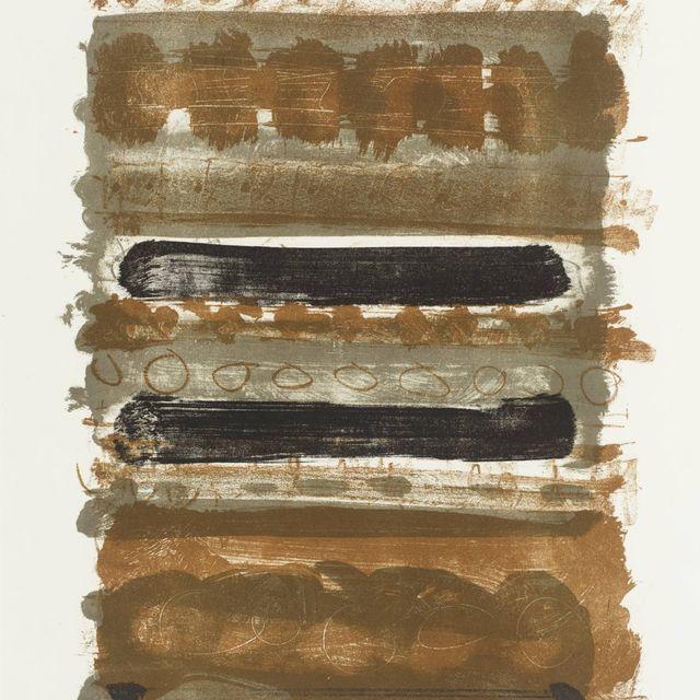 image: 'Grey and Brown Stripes' by Patrick Heron by davidzimmerman
