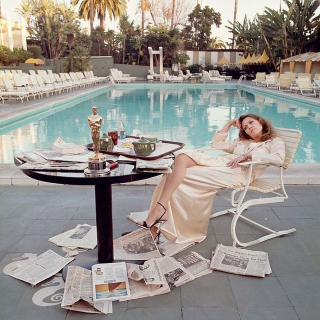 image: Never forget Faye Dunaway post-Oscars by #TerryONeill (1977) by 70sbabes