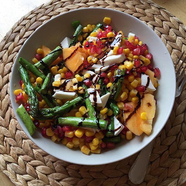 image: Asparagus, mango, cheese, garnet pome & corn by maria_pedraza