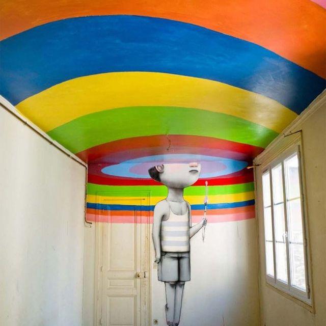 image: Street Artists transform Nightclub in Paris by martanicolas