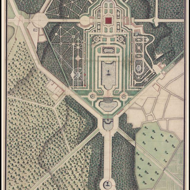 image: Plan général du château et jardins de Marly by ana-m-sanchez-370
