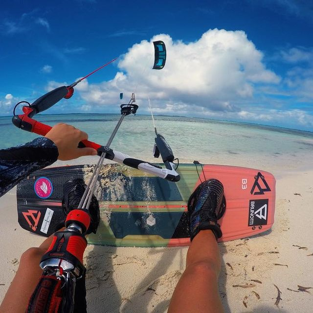 image: Happy Monday ☺️💙💦Pic from Los Roques @mardeleva.losroques Travel Agency ✈️#brunotti #nomattertheconditions #windvoyager #b3watersports #losroques by ritaarnaus