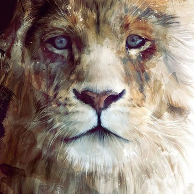 image: LION PAINTING by karmensia