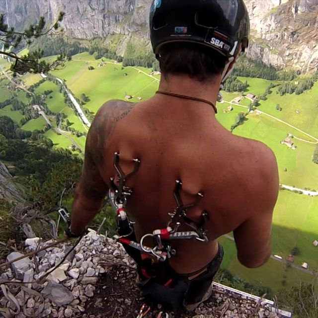 video: PARACHUTE ATTACHED WITH PIERCINGS by pati