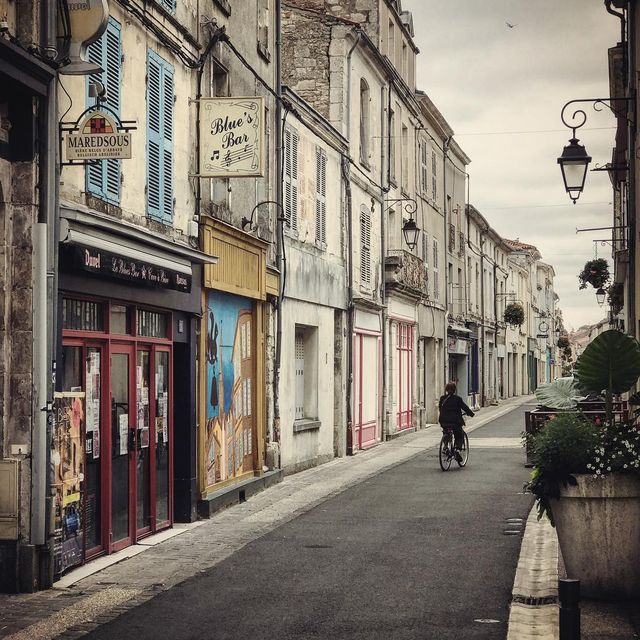 image: Quiet street in Fontenay-Le-Comte, France. by mikekus