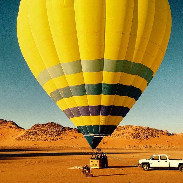 image: How about a hot air balloon ride over the Wadi Rum dese by mindful_travel