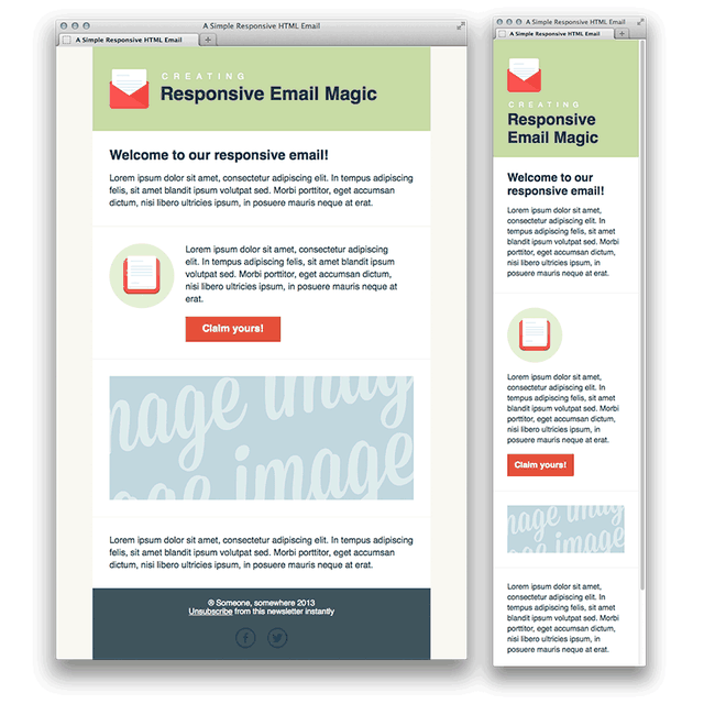post: Creating a Simple Responsive HTML Email. by villaaponte