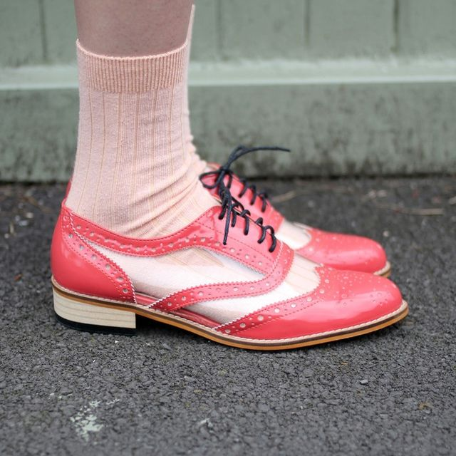 image: Coral Oxford Transparent Shoes by mllebantu