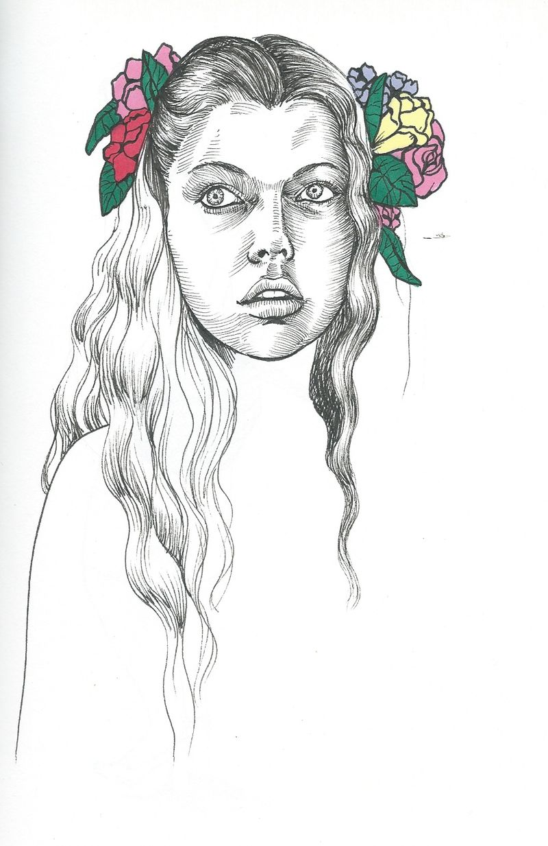 image: Yo no tengo pájaros en la cabeza, tengo flores by miguelangel-camprubilopez