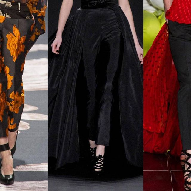 image: Silk Trailing Behind Trousers on the Runways by anjelica